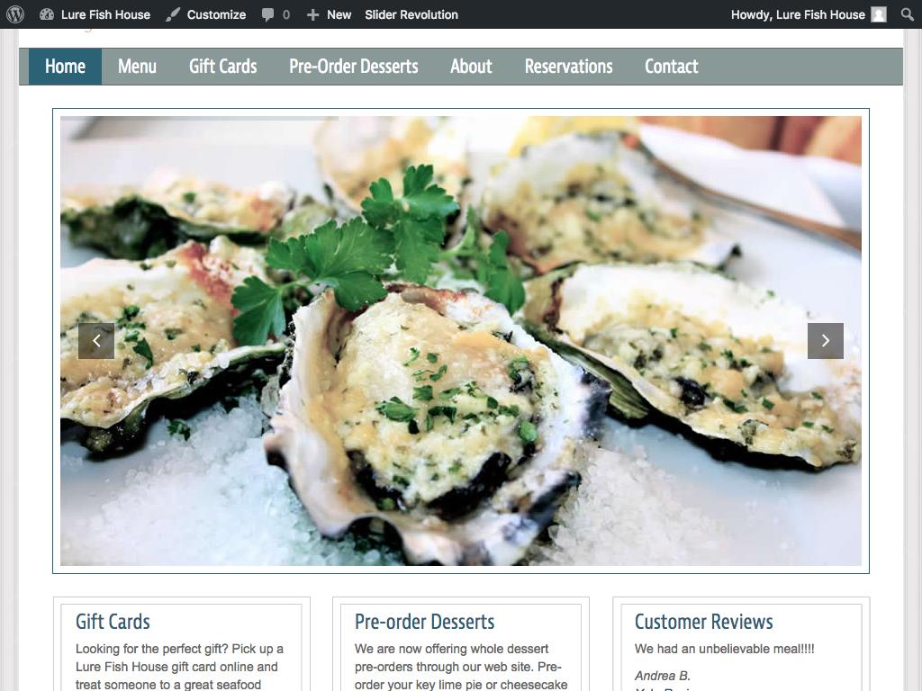 Wilmeth group ventura website design internet marketing for Lure fish house ventura